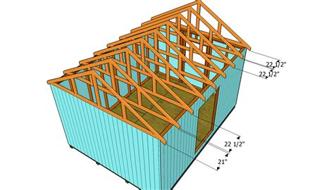 How To Build Roof Trusses How To Build A Roof For A 12x16 Shed Howtospecialist