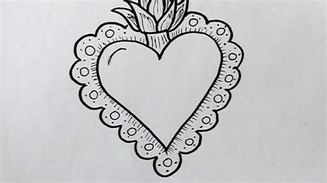 imagenes para dibujar y bordar c 243 mo dibujar un coraz 243 n con fuego y bordados dibuja