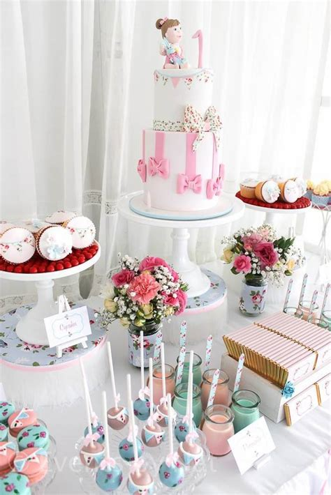kara s party ideas shabby chic first birthday party ideas planning decor cake idea