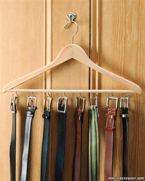 How To Organize Belts In A Closet by 20 Creative Ways To Organize And Decorate With Hangers