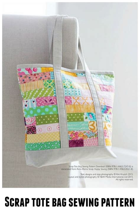 jenna tote bag pdf sewing pattern instant download zipper 173 best tote bag sewing patterns images on pinterest