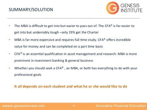 Cfa And Mba Both by Cfa Vs Mba The Eternal Debate
