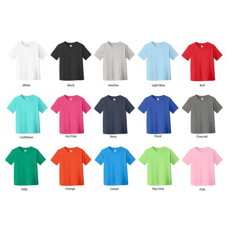 tshirt colors toddler shirt 6 pack assorted colors 2t 5 6t sizes