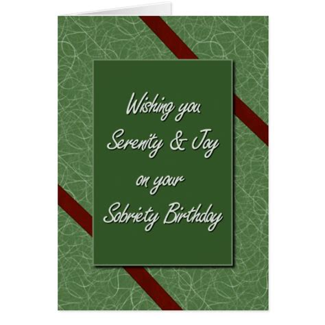 free printable sobriety anniversary cards sobriety birthday cards zazzle