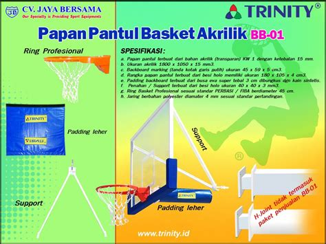 Papan Pantul Basket Acrylic Tanpa Ring papan pantul basket akrilik bb 01 basketball backboard