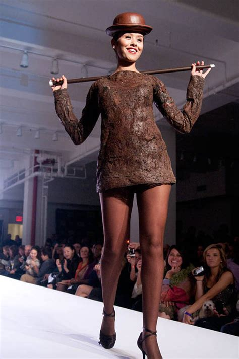 Wardrobe In Fashion Shows by World S Largest Chocolate Event Parade Of Dresses In