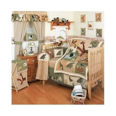 Animal Crib Bedding Set Kidsline Zanzibar Crib Bedding Set Boys Zoo Safari Animal Nursery Decor Infant Kidsline