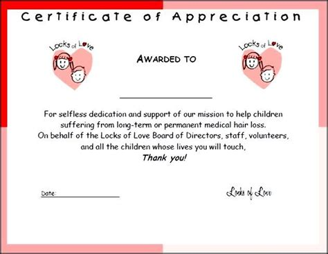 sample certificate of appreciation free certificate234