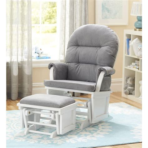 grey and white glider and ottoman grey glider with ottoman custom glider and ottoman in