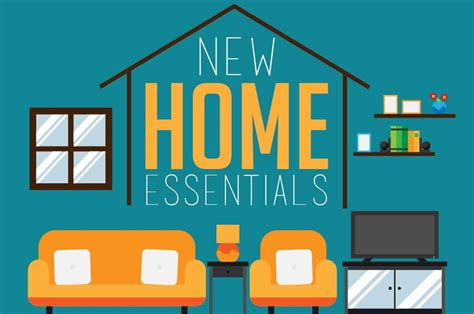 necessities for a new home essentials for a new home infographic