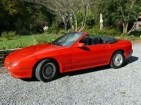 1990 mazda rx 7 sell used 1990 mazda rx 7 rx7 convertible red 2d rotary engine 1 3l 56k org miles mint in