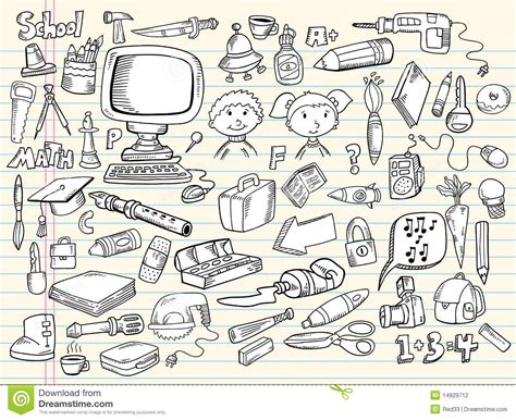 free doodle sketch vector doodle sketch design elements stock vector illustration