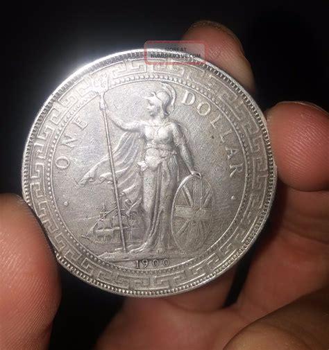 1 oz silver one dollar 1900 great britain uk 1900 b one dollar trade 1 vf xf silver