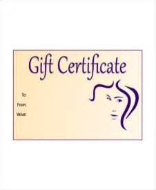 Haircut Gift Certificate Template by Salon Gift Certificate Template 7 Free Pdf Psd Ai