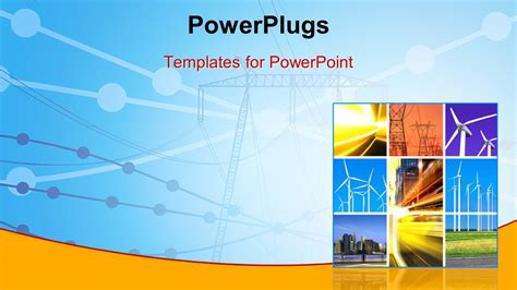 Powerpoint Template Electricity Generation And Transmission With Collage Of Wind Turbines 11032 Energy Powerpoint Template