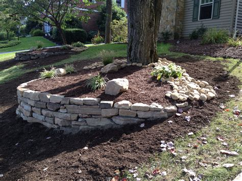 How To Make A Rock Garden From Scratch We Created This Landscape From Scratch Building The Accent Wall With Laurel Mountain