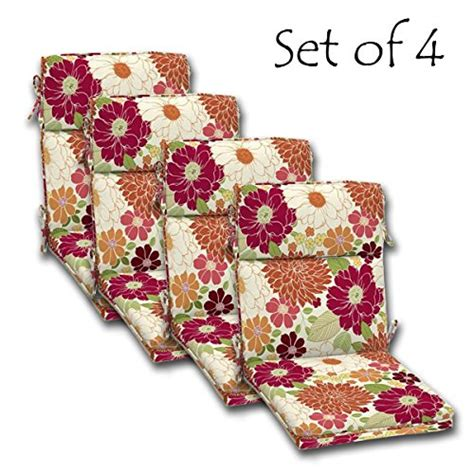 Outdoor Dining Chair Cushions Set Of 4 Set Of 4 Outdoor Dining Chair Cushions Single Welt And Zipper 44 X21x4 50 In Polyester Fabric