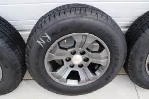 chevy 18 inch oem tahoe silverado gunmetal wheels 5 oem