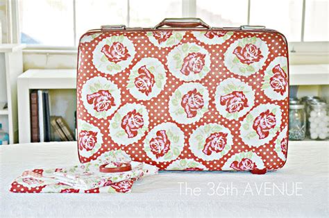 How To Decoupage A Suitcase - decoupage suitcase tutorial the 36th avenue