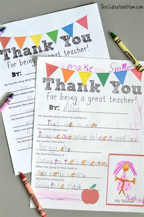 appreciation letter from kindergarten student thank you free printable free printable