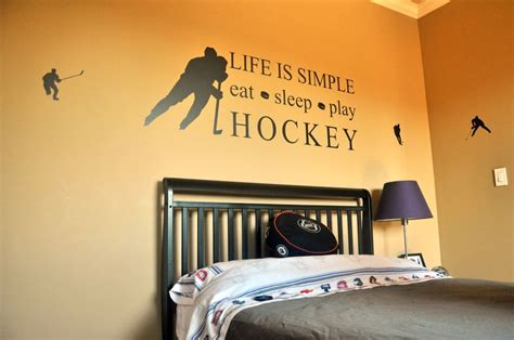 18 unique hockey bedroom design ideas for guys