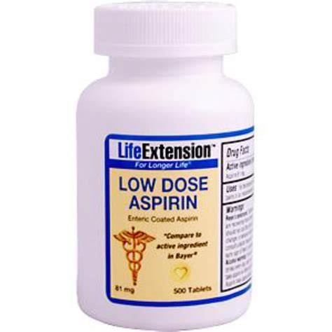 aspirin dosage extension low dose aspirin 81 mg 500 tablets iherb