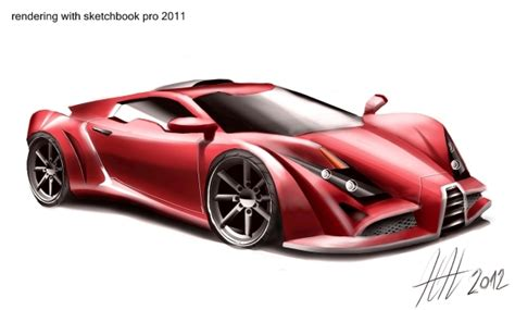 sketchbook pro rendering concept car sketching practice by nikola novak at coroflot