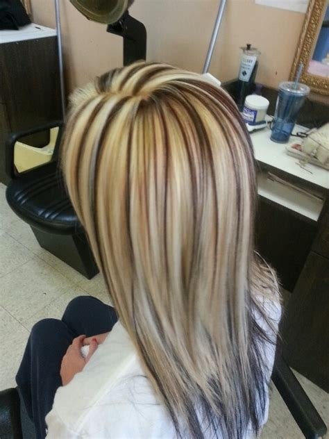 pictures of blonde hair with dark lowlights white highlights brown lowlights hair colors ideas