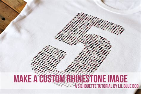 make a custom rhinestone font or image a tutorial and