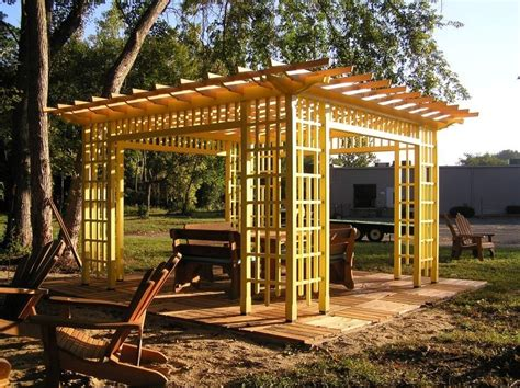 wood pergola plans wood pergolas landscaping network