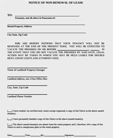 section 42 notice lease extension template lease renewal letter rental agreement exle