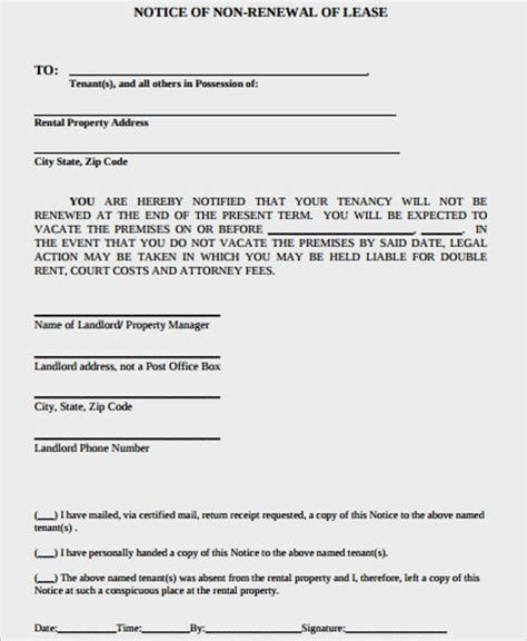 40 beautiful renewal of lease agreement letter agreement form