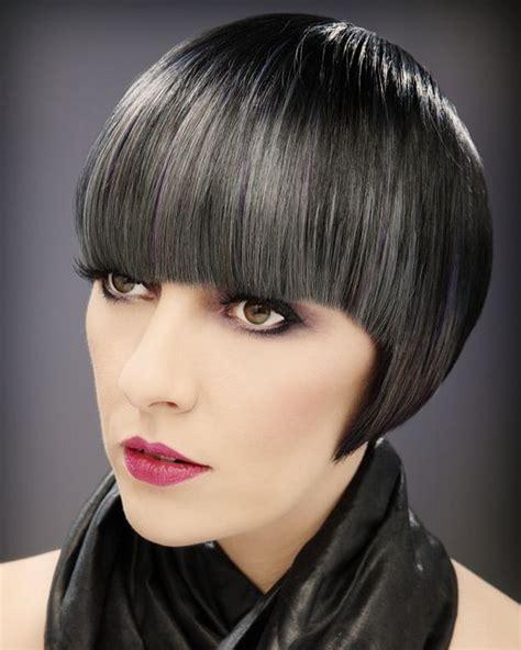 short haircuts edgy bangs new dark bob hairstyle hair coloring dark and gray