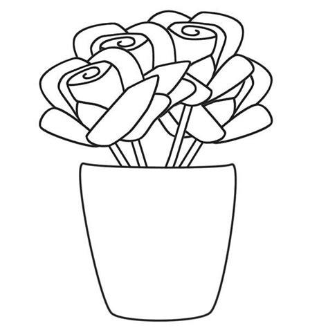 vasi di fiori da colorare disegni vasi di fiori per bambini 16
