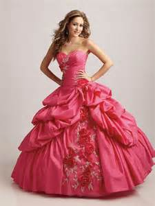 Floral quinceanera dress embroidered pick up