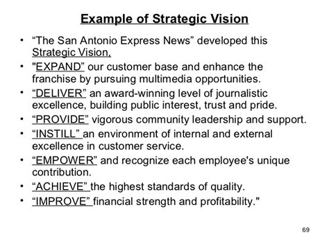 Business Policy And Strategic Management Mba Notes Pdf by Writing A Personal Vision Statement Exles