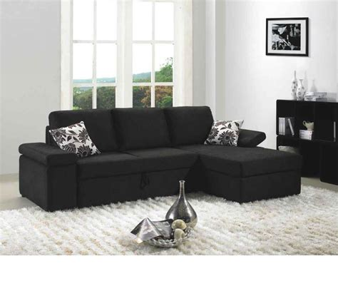 Black Fabric Sectional Sofa Dreamfurniture Avalon Black Fabric Sectional Sofa Set With Bed