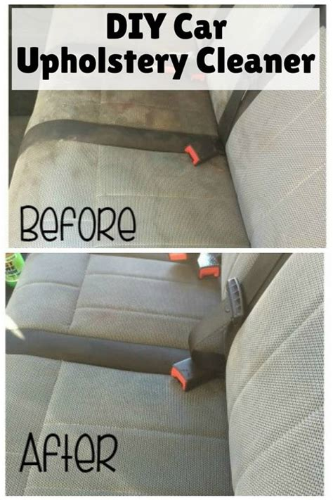diy car upholstery cleaner  budget diet