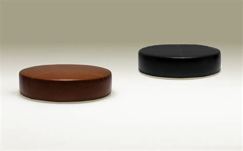 modern round ottoman contemporary round black leather ottoman circle shape