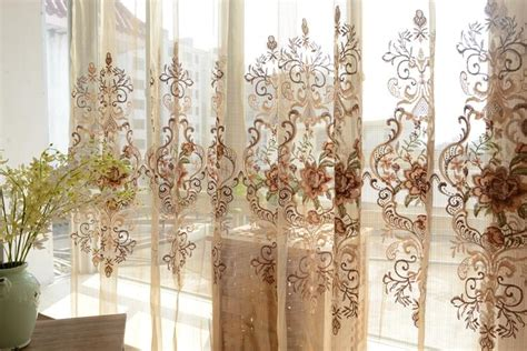 french provincial curtains custom made french country provincial embroidered floral