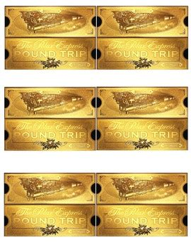 Polar Express Golden Ticket Template by Polar Express Ticket Freebie By Khrys Greco Teachers