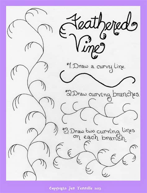 make doodle free jen tennille s draw doodle style the feathered vine tutorial