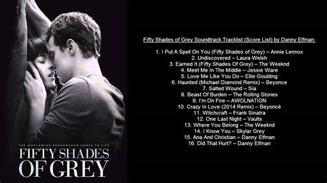 danny elfman freed fifty shades of grey soundtrack tracklist ost by danny