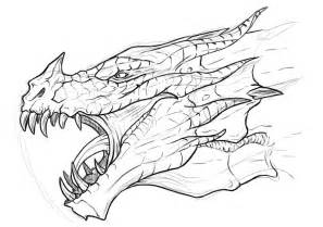 skyrim dragon coloriage