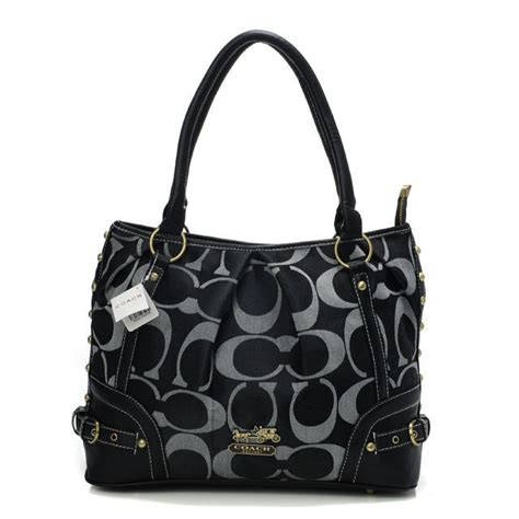 couch outlet online coach poppy in signature medium black totes aek cc1524
