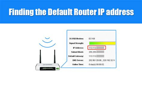 Searching For Ip Address Finding The Default Router Ip Address