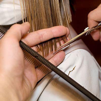 woman scissor cut hair styles no blow dry haircuts health com