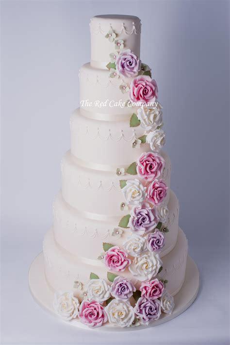 Hochzeitstorte Altrosa by Wedding Cakes