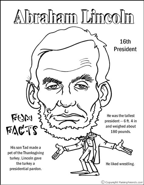 printable coloring pages us presidents abraham lincoln coloring page