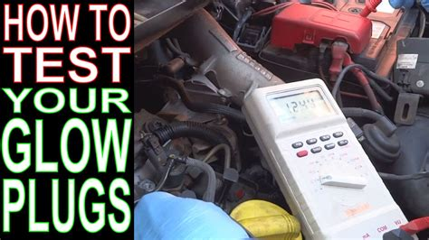 test glow plugs   multimeter renault scenic youtube